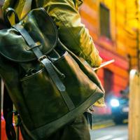 モブリス Camo Leather Rucksack