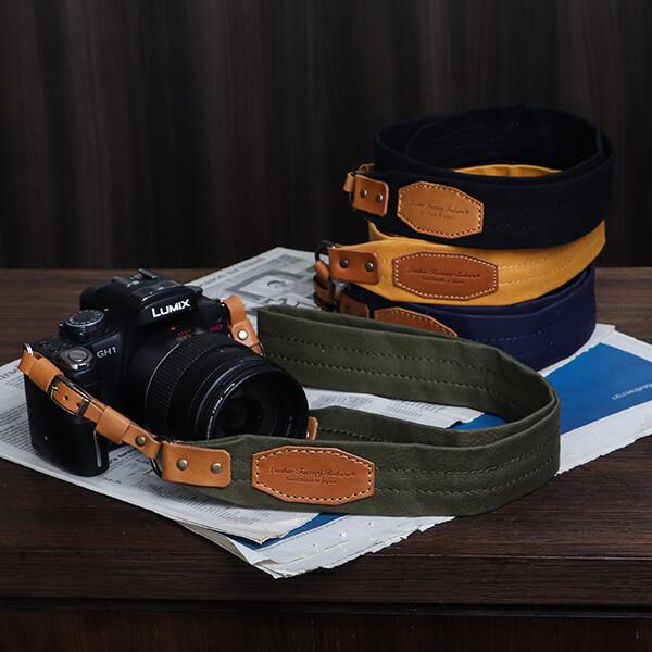 ロベルの帆布カメラストラップ6colors