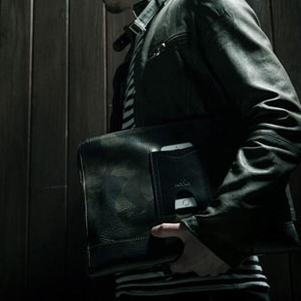 モブリス Camo Leather Clutch Bag クラッチバッグ moblis