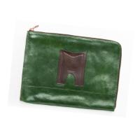 Aniline Leather Clutch Bag