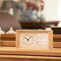 タカタレムノス FRAME 温湿度計付置き時計