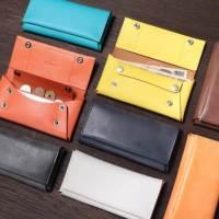 ファブリックのコンパクト長財布