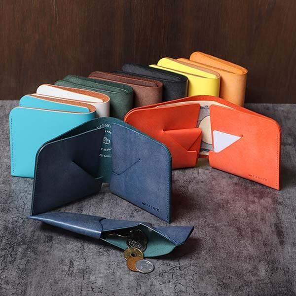 ファブリック コインケースが取り外せる財布