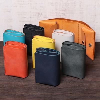 ファブリックのコンパクトな財布