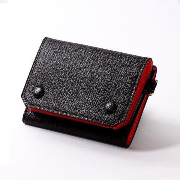 ラルコバレーノ 三つ折ミニウォレットGOAT 財布