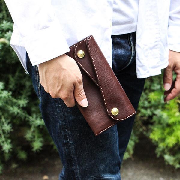 ビアベリー Dフラップ長財布