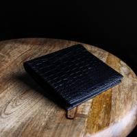 比留間 スモールクロコダイル無双札入れ 二つ折り財布