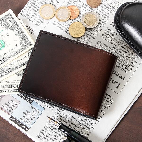ユハク コードバン 二つ折り財布
