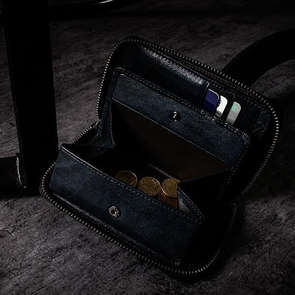 ラガード G-3 ジースリー ファスナー三つ折り財布 ネイビー